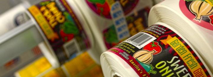 Etiquetas en adhesivo rollo